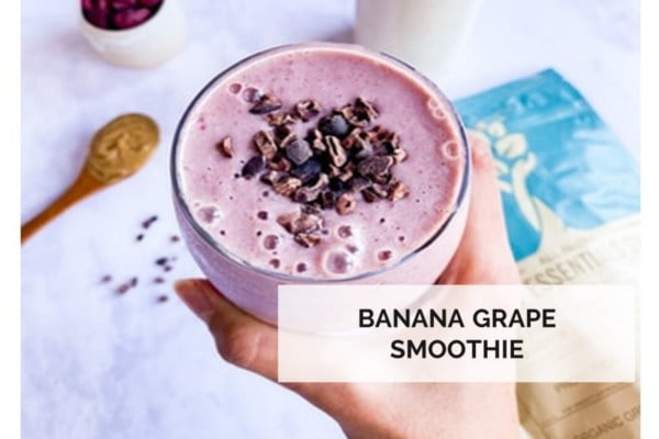 Banana Grape Smoothie Delicious meal plan from Yvonne