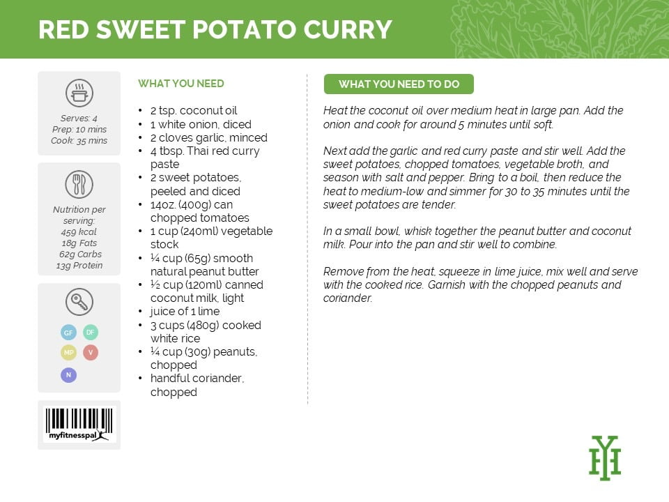 Red Sweet Potato Curry. recipe Delicious meal plan from Yvonne