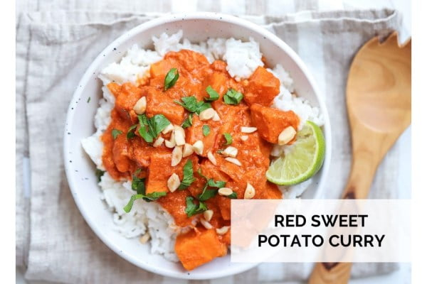 Red Sweet Potato Curry Delicious meal plan from Yvonne